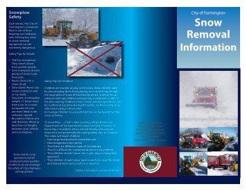 Snow Removal Info - Farmington, Minnesota