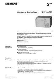 2466 Régulateur de chauffage RVP102/SET - Siemens