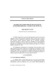 matrice de comptabilité sociale d'une économie rizicole - Region et ...