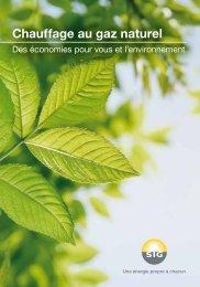 Brochure Chauffage au gaz naturel - SIG
