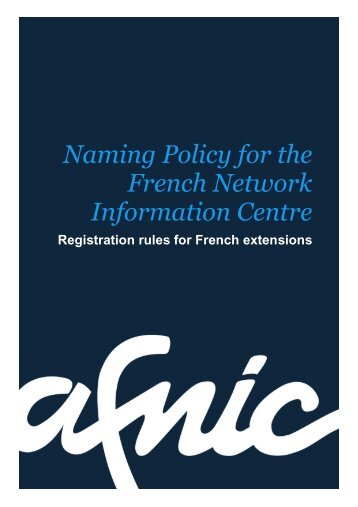 Naming policy - Afnic