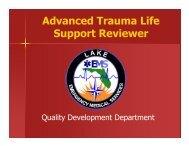 Advanced Trauma Life Support Reviewer - Lake EMS