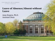 Leave of Absence/Absent without Leave - The Graduate College at ...