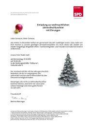 Einladung zur weihnachtlichen Jahresabschlussfeier mit Ehrungen