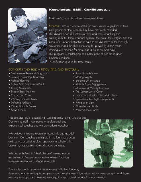 Instructor Flyer-December 2006.qxd - Strategos International