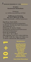 10 + 1 - Kunstverein Hockenheim