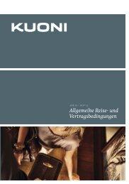 Allgemeine Reise- und Vertragsbedi ngungen - Kuoni Reisen