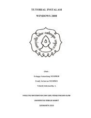 TUTORIAL INSTALASI WINDOWS 2000