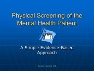 Physical Screening of the Mental Health Patient - Emergency Care ...