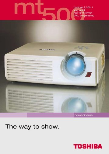 The way to show. - Toshiba