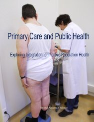Primary Care and Public Health - Exploring Integration to Improve ...
