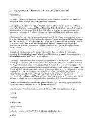 CHARTE DES DROITS FONDAMENTAUX DE L'UNION ...