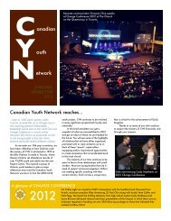 CYN Newsetter Dec2012 - Canadian Youth Network