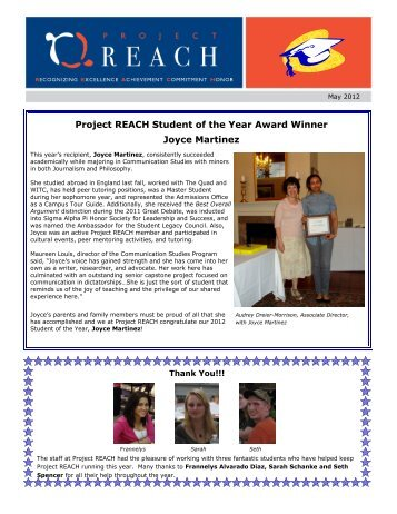 Project REACH Student of the Year Award Winner Joyce Martinez