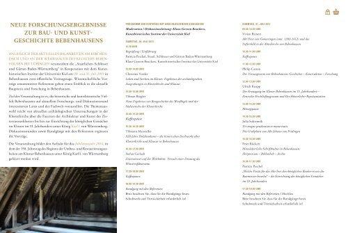 kloster & schloss BeBenhAusen - Kunsthistorisches Institut der CAU ...