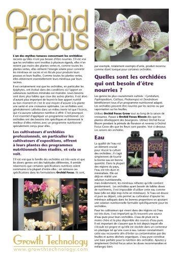 Mode d'emploi orchid focus - Patrick POLBOS Orchids