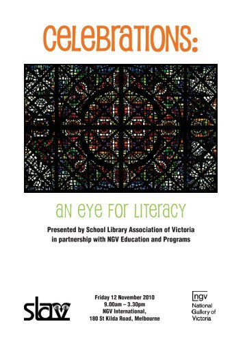Celebrations! An eye for literacy - School Library Association of ...