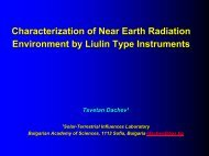 Characterization of Near Earth Radiation Environment ... - Wrmiss.org