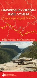 Hawkesbury-Nepean River System Canoe & Kayak Trail map - Land