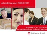 Möglichkeiten und Grenzen im ... - bei der DGCC!