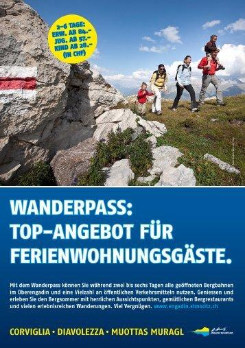 Wanderpass Top-Angebot - Chesa Stail Alva Ferienwohnungen