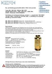 BEL 1000 1500 2200 Bedienungsanleitung - ZR Armaturen GmbH