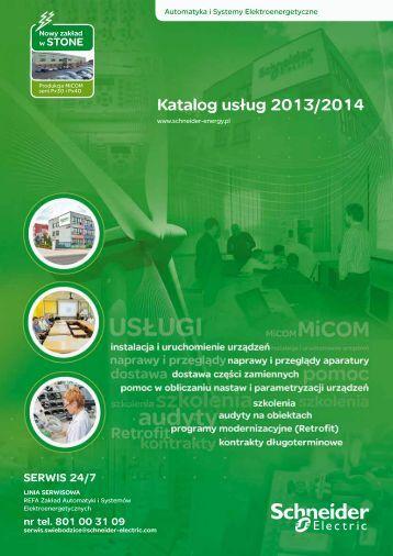 Katalog usług 2013/2014 - Schneider Electric Energy Poland Sp. z o.o.