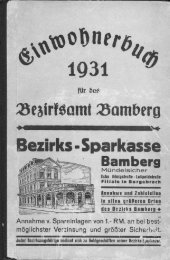 1931 - Kulturforum Bamberger Land