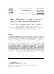 Gender differences in response to pictures of nudes: a ...