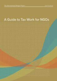 A Guide to Tax Work for NGOs - International Budget Partnership