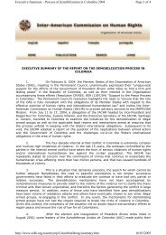 Page 1 of 4 Executive Summary - Process of demobilization in ...