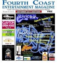 September Fourth Coast Entertainment Magazine.