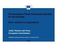 The European Flood Awareness System for the Danube
