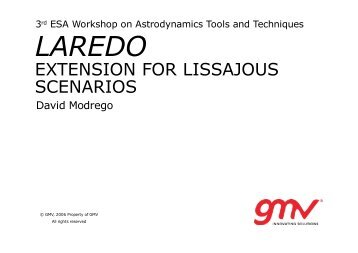LAREDO: Extension of a RvD tool for Lissajous scenarios - ESA