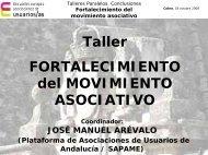 Fortalecimiento del movimiento asociativo - Página 1 de cada 4
