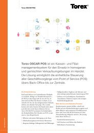 Torex OSCAR POS ist ein Kassen- und Filial - manage mentsystem ...