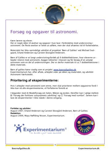 Baggrundsviden - Experimentarium