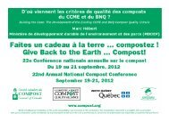MDDEP - Compost Council of Canada