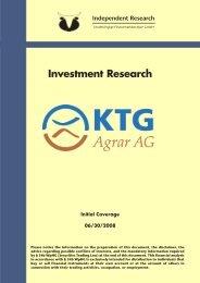 Independent Research - KTG Agrar AG