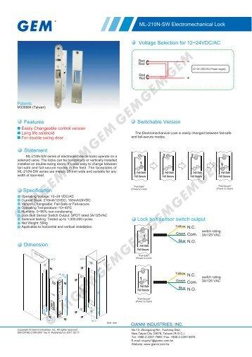 ML-210N-SW - GEM,Gianni Industries, Inc.