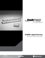 DaliPRO Technical Brochure - Universal Lighting Technologies