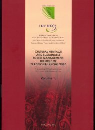 cultural heritage and sustainable forest management: the role of ...