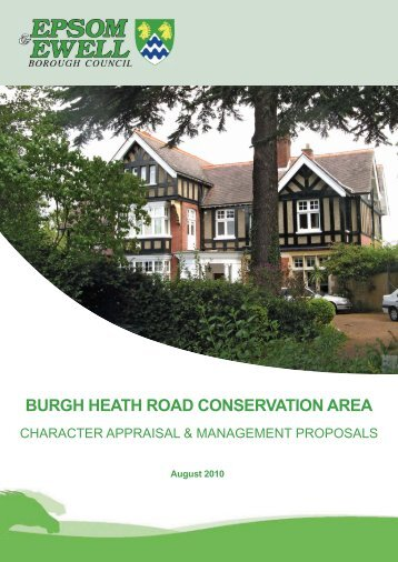 burgh heath road conservation area - Epsom and Ewell Borough ...