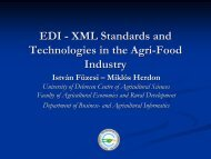 EDI - XML Standards and Technologies in the Agri-Food Industry