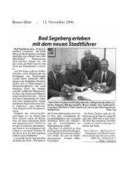 Bad Segeberg - 3 Rezensionen
