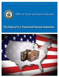 The State of U.S. Travel and Tourism Industries - Office of Travel and ...