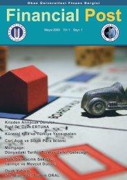 Financial Post Dergisi 1.Sayı - Okan Üniversitesi