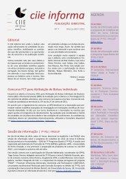 Nº 7 - Março/Abril 2011 - Faculdade de Psicologia e de Ciências da ...