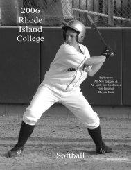 2006 Rhode Island College Softball - Rhode Island College Athletics