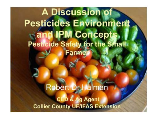 Pesticides and IPM Concepts - Sarasota County Extension